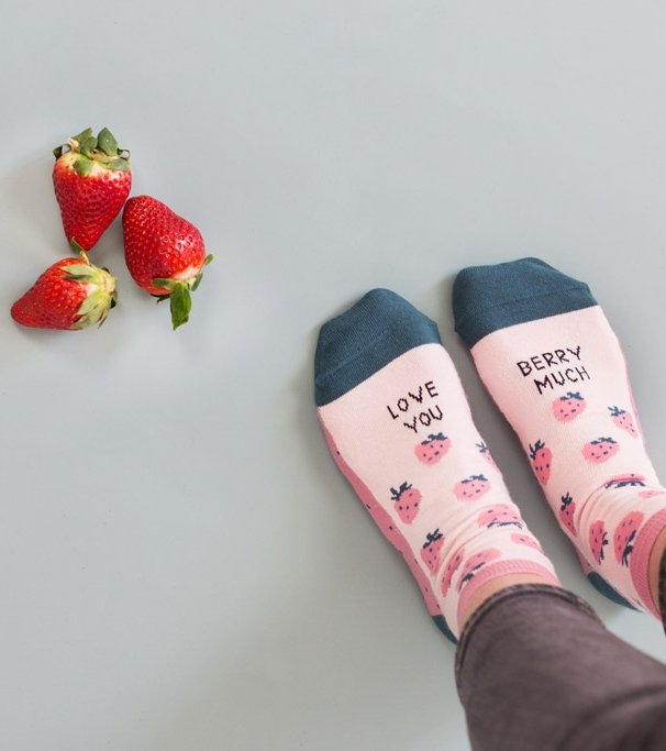"Calcetines ""Love you berry much"""