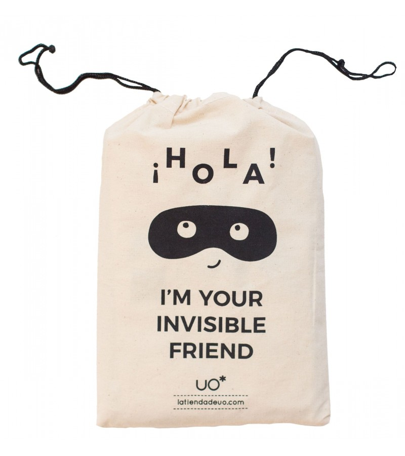"Bolsa Tela ""Hello I'm your invisible friend"""